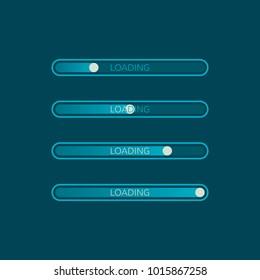 Loading bar icon. Creative web design element. Loading website progress illustration