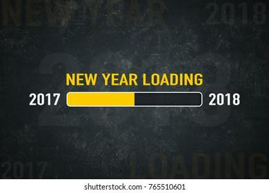Loading bar: new year loading