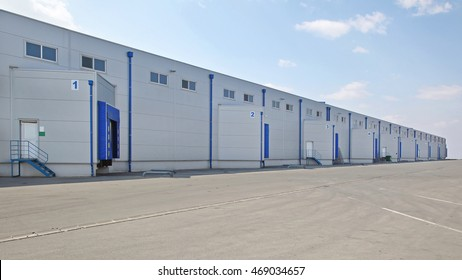 Loading Bay at Long Distribution Warehouse Buildin