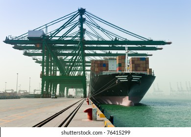 Loading Container Ship