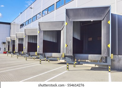 Loading Dock Bay Doors at Distribution Warehouse