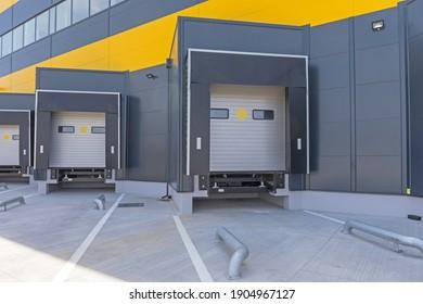 Loading Dock Cargo Doors at Distribution Warehouse
