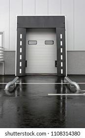 Loading  Dock Door for Trucks at Distribution Warehouse
