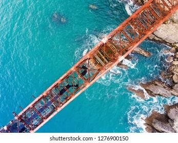Loading dock, Miono, Cantabria, Spain