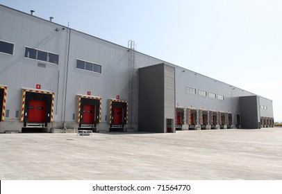 Loading dock at a warehouse