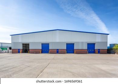 Loading doors of a warehouse