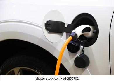 Loading energy of an electric car in Prague Czech republic