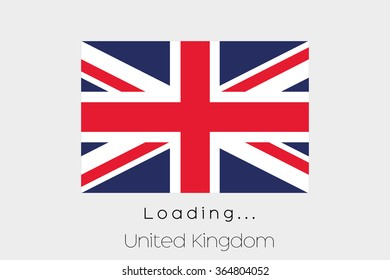 A Loading Flag Illustration of the country of United Kingdom
