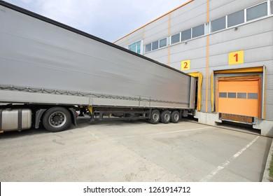 Loading Lorry Trailer at Warehouse Cargo Door