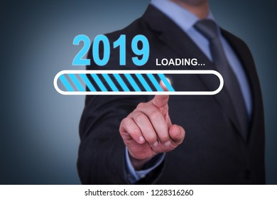 Loading New Year 2019 on Touch Screen