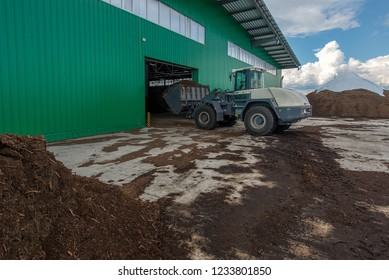 loading of peat raw materials, at the processing plant