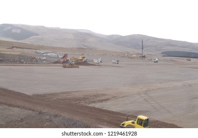 Loading, transporting, filling and compaction of granular fill works during a highway / road construction project