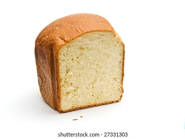 loaf of bread isolated over white
