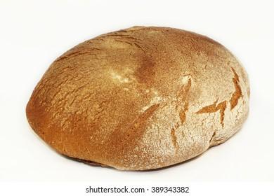 a loaf of  dark rye bread