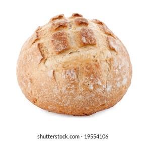 Loaf of round Italian sourdough bread