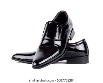 Loafer Polished black Leather men shoes for Wedding or  Dress Shoes in Black and Brown.