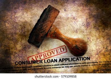 Loan application - approved grunge concept