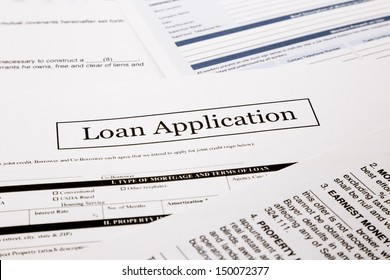 loan application form, business and finance concepts