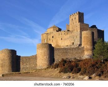"""Loarre Castle  (Aragon, Spain). This breathtaking 11th. century castle was filmed in Ridley Scott's movie """"Kingdom of Heaven"""""""