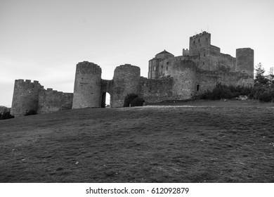 Loarre Castle (Castillo de Loarre) in Huesca Province, Aragon, Spain