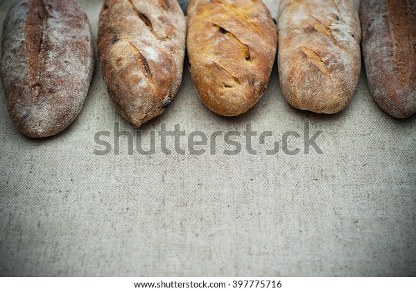 Loaves Home Baked Leavened Bread Made Stock Photo Edit Now