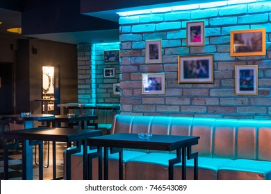 Lobby bar or lounge bar interior