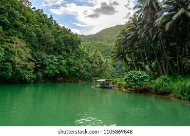 Loboc jungle river on Bohol, Philippines