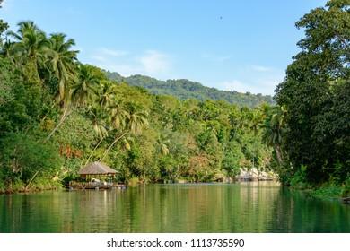 Loboc river in Philippines, Bohol island