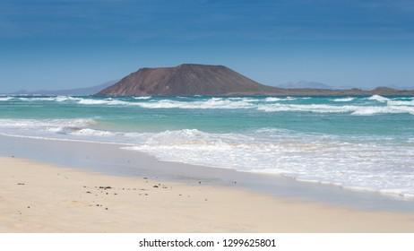 Lobos Island in Fuerteventura , Canary Islands