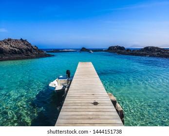 Lobos Island Lagoons, Fuerteventura, Canary Islands