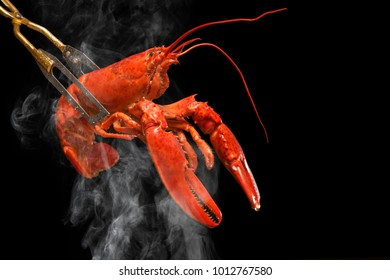 The lobster boiled in red