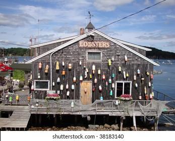 Lobster buoys in bar harbor maine