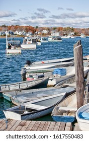 Lobster and crab fishing boats in Maine, USA