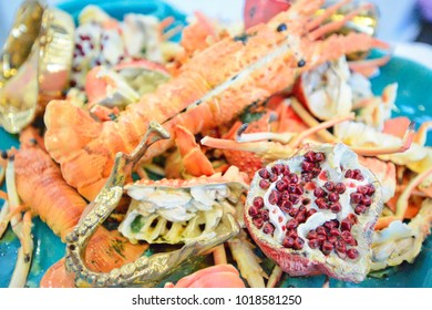 lobster and pomegranate
