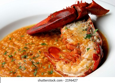 Lobster with rice