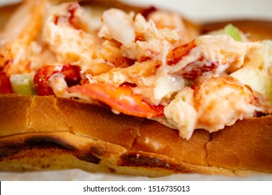 Lobster roll-lobster meat and celery on toasted roll