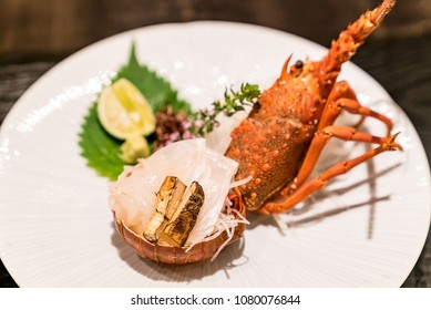 Lobster Sashmi, groumet japanese cuisine