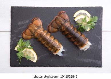 lobster tail on plate