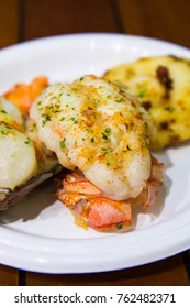 lobster tail and scallop with salmon