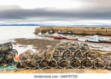 lobster trap and crab pot in the fishing village of Portmahomack