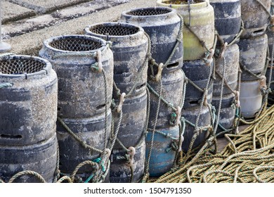 Lobster/Crab/Octopus Fishing Pots and Rope, Saundersfoot, Wales