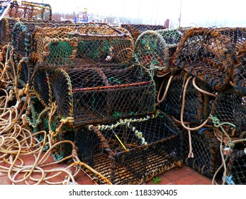 Lobster-pots in Scarborough Harbour