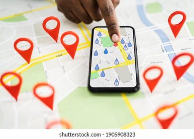 Local City Map Locator Pin Marker Search