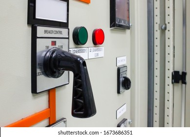 Local control switch of 115 kV circuit breaker of control and protection panel