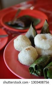 local dish at small warung (coffeshop) at Berastagi, North Sumatra, Indonesia.