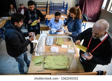 local elections in Turkey was completed. officials started the vote count. 6 april 2019. istanbul at Turkey