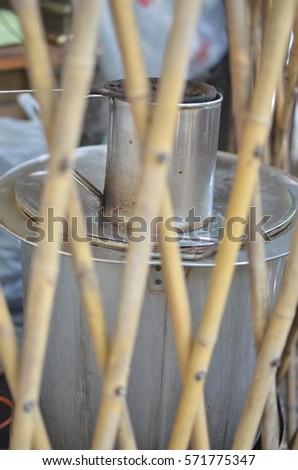Local Equipment Tea Coffee Making Machine Stock Photo (Edit