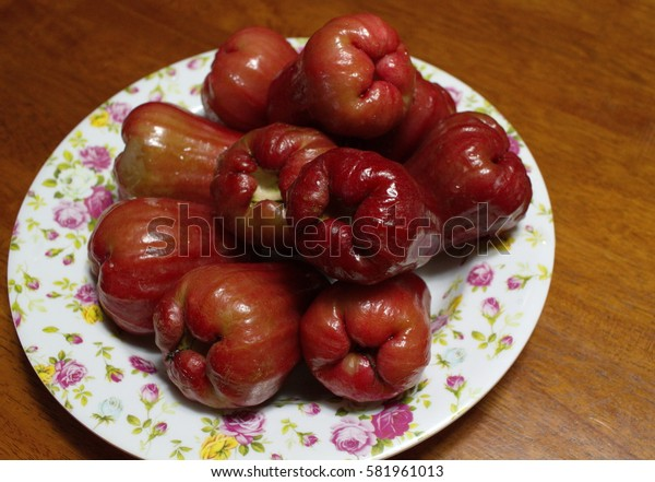 Local fruit of Malaysia named Rose Apple(depth of field).