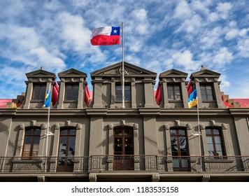 Local Government Office, Benjamin Munoz Gomero Main Square, Punta Arenas, Magallanes Province, Patagonia, Chile