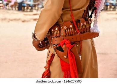 Local guard in Petra Jordan